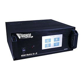 280759 8x8 HDMI HDBaseT Matrix with IR and RS 232 Control Electronics