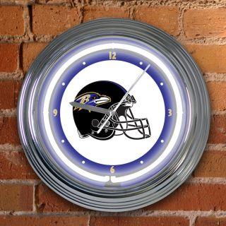 Baltimore Ravens 15 inch Neon Clock
