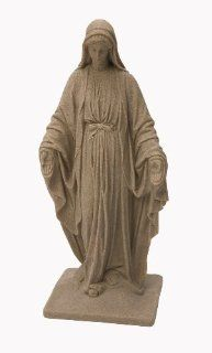 Emsco Group 2290 Poly Virgin Mary Statue Sand 34 Inch
