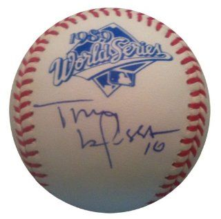 Signed Tony LaRussa 1989 World Series Baseball JSA COA