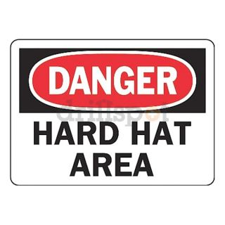 Accuform Signs MPPA004VA Danger Sign, 7 x 10In, R and BK/WHT, AL, ENG