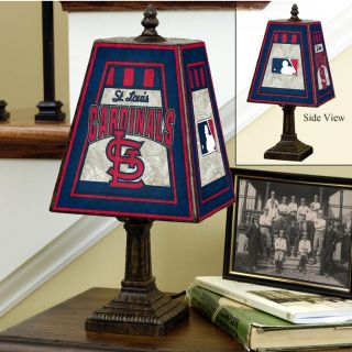 St. Louis Cardinals 14 inch Art Glass Lamp