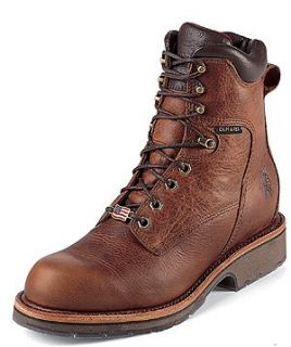 Chippewa Mens 8 Tan Waterproof Chippewar Country Style 25227 Shoes