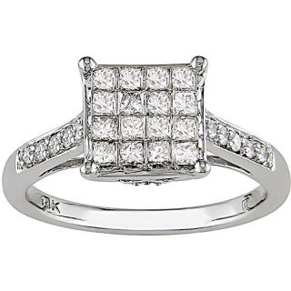 14k Gold 1/2ct TDW Princess cut Diamond Ring (H I J, I1 I2