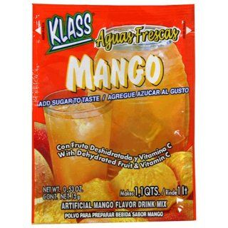 Klass Aguas Frescas Mango Drink Mix, 0.53 Ounce Packages (Pack of 36