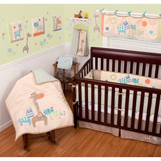 Sumersault Animal Spots and Stripes 11 piece Crib Bedding Set