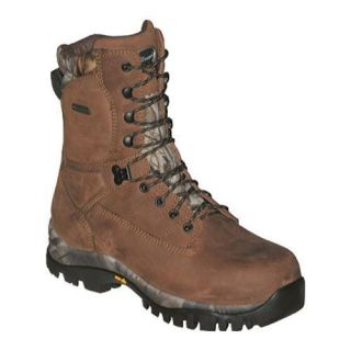 Mens SensorTrak Canyon 9in Hunting Boot Brown Crazy Horse Leather