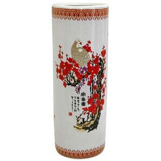 Porcelain 24 inch Cherry Blossom Umbrella Stand (China) Today $88.00