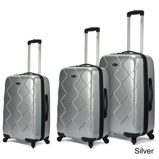 Benzi 3 piece Multidirectional 4 wheel Hardside Spinner Luggage Set