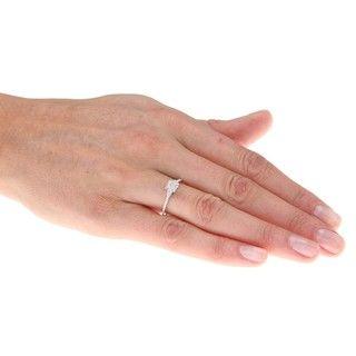 Sterling Silver 1/10ct TDW Diamond Ring (H I, I2 I3)