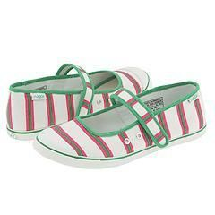 Sugar Mary Jane Cat Preppy Stripe Green