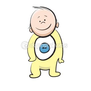 Cartoon baby  Stock Vector © sergey chernov #1333714