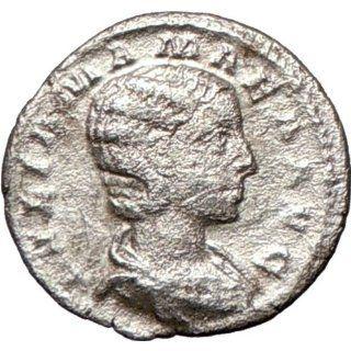 JULIA MAMAEA 222AD Rare Ancient Silver Roman Coin JUNO LUNA mother of