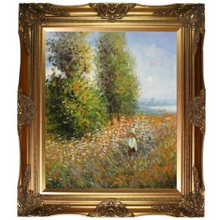 Claude Monet Field with Poplars Canvas Art