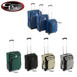 CalPak Holiday 3 piece Spinner Expandable Luggage Set
