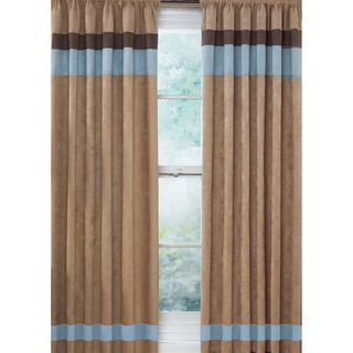 Soho Blue and Brown 84 inch Curtain Panel Pair