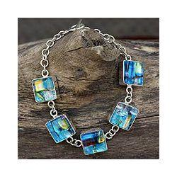 Glass Urban Blues Charm Bracelet (Mexico) Today $159.99