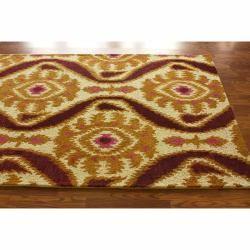Handmade Luna Ikat Natural Wool Rug (5 x 76)