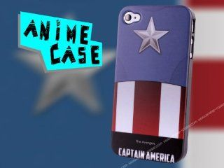 iPhone 4 & 4S HARD CASE anime Captain America + FREE