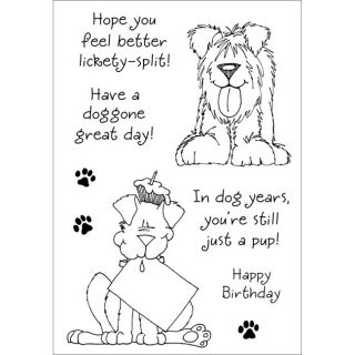 Delightful Dogs No. 1 Inky Antics Clear Stamp Set