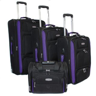 Bell + Howell Purple Quick Access 4 piece Expandable Luggage Set Today