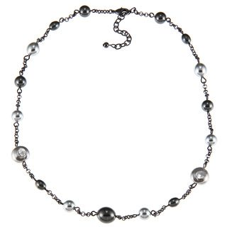 Ralph Lauren Multi pearl Illusion Chain 18 inch Necklace