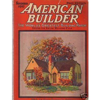 1927 American Builder November 16 floor plans; Church
