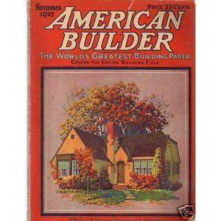 1927 American Builder November 16 floor plans; Church