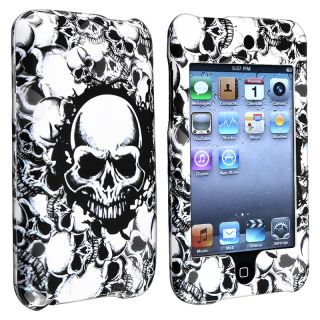 White Skull Snap on Case for Apple iPod Touch Generation 2/ 3