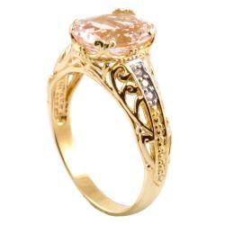 Michael Valitutti 14k Gold Morganite and Diamond Accent Ring