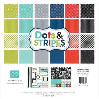 Echo Park Essentials Metropolitan 12x12 Paper and Sticker Kit