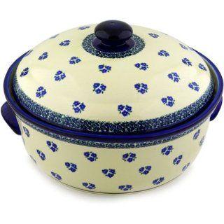 Polmedia Polish Pottery 9 inch Stoneware Baker with Cover