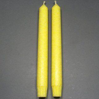 Pair of 9 Yellow Chakra Taper Candles, Aloha Bay, Color