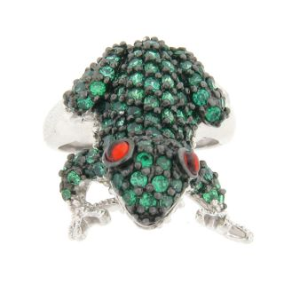 Meredith Leigh Sterling Silver Multi colored Cubic Zirconia Critter