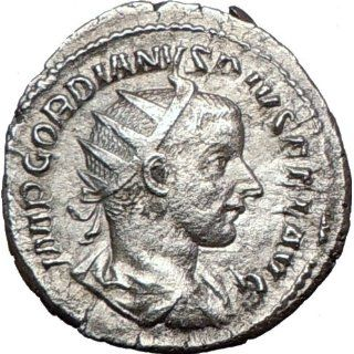 GORDIAN III 240AD Genuine Authentic Ancient Silver Roman Coin SUN GOD