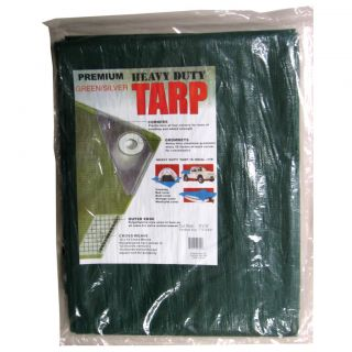Kotap Heavy Duty Poly Tarp Green/Silver (16x20)