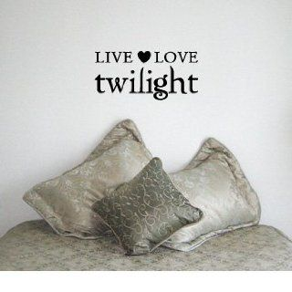 LIVE LOVE TWILIGHT   Edward Cullen Design   Vinyl Wall