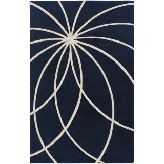 Hand tufted Fairmont Dark Blue Floral Wool Rug (76 x 96) Today $450