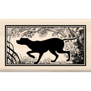 Inkadinkado Dog Print Mounted Rubber Stamp