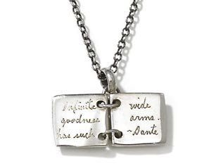 Jeanine Payer  Dante Book Necklace with Custom Quote