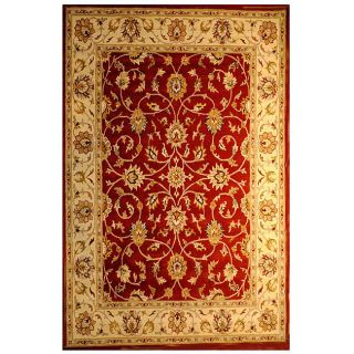 Hand tufted Indo Red/ Beige Wool Rug (8 x 10)