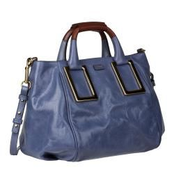 Chloe Ethel Blue Leather Satchel