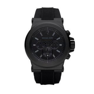 Michael Kors Mens MK8152 Black Silicone Strap Watch