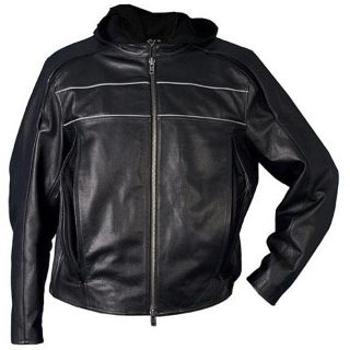 Leather Mens Reflective Premium Motorcycle Jacket