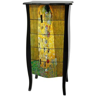 Klimt Five Drawer Cabinet   The Kiss (China)