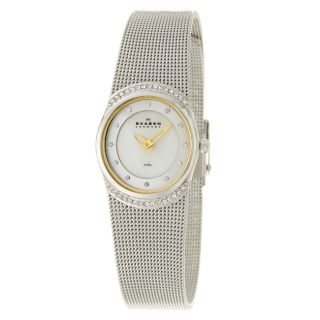 Skagen Womens Mesh Stainless Steel Crystals Watch