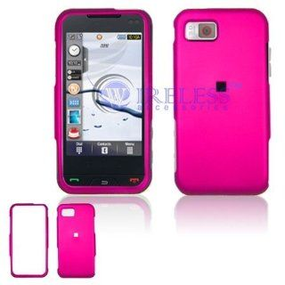 Samsung Eternity A867 Cell Phone Hot Pink Rubber Feel