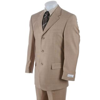 Bill Blass Mens Tan Three Button Suit