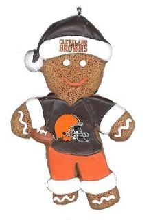 Cleveland Browns Gingerbread Man Person Resin Christmas