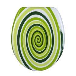 Green Spiral Designer Melamine Toilet Seat Cover